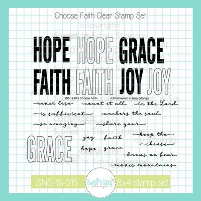 Choose Faith Clear Stamp Set