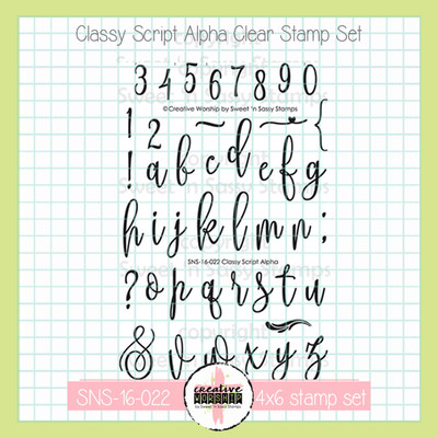 PREORDER Creative Worship: Classy Script Alpha Clear Stamp Set