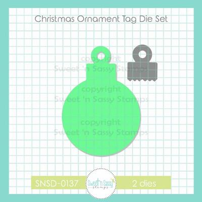 Christmas Ornament Tag Die Set