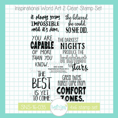 Inspirational Word Art 2 Clear Stamp Set