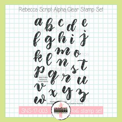 Creative Worship: Rebecca Script Alpha Clear Stamp Set