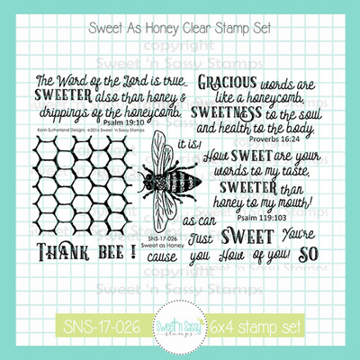 Sweet as Honey Clear Stamp Set