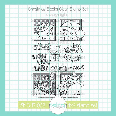 Christmas Blocks Clear Stamp Set