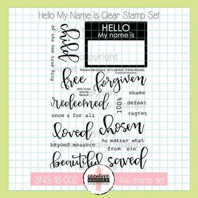 Creative Worship: Hello My Name Is Clear Stamp Set