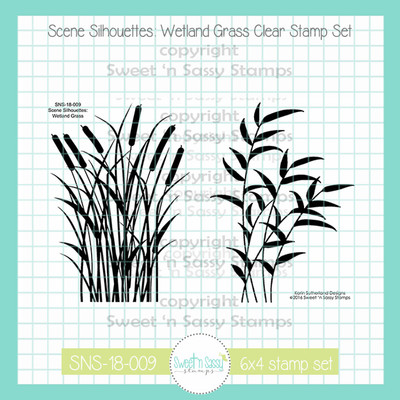 Scene Silhouettes: Wetland Grass Clear Stamp Set