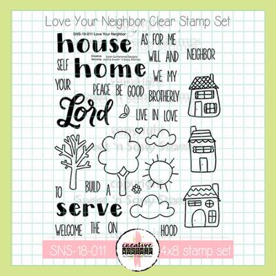 Creative Worship: Love Your Neighbor Clear Stamp Set