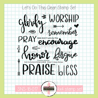 Creative Worship: Let's Do This Clear Stamp Set