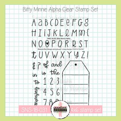 PREORDER Creative Worship: Bitty Minnie Alpha Clear Stamp Set