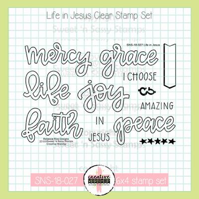 Creative Worship: Life in Jesus Clear Stamp Set