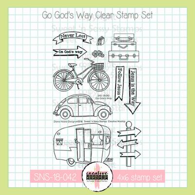 Creative Worship: Go God's Way Clear Stamp Set