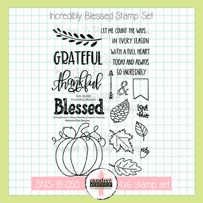 Creative Worship: Incredibly Blessed Clear Stamp Set