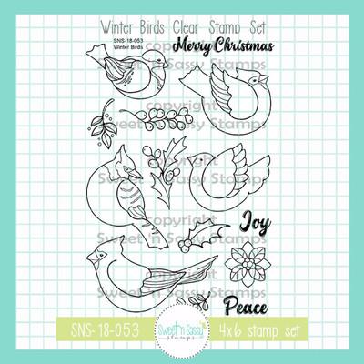 Winter Birds Clear Stamp Set