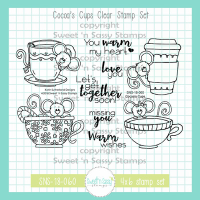 Cocoa's Cups Clear Stamp Set