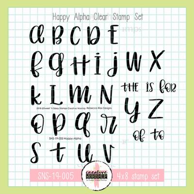 Creative Worship: Happy Alpha Clear Stamp Set