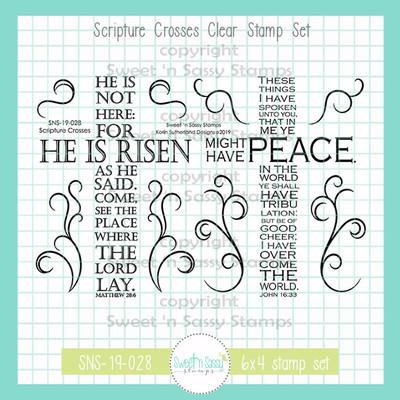 Scripture Crosses Clear Stamp Set