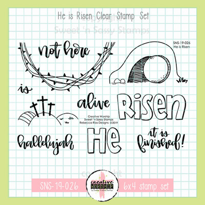 Creative Worship: He is Risen Clear Stamp Set