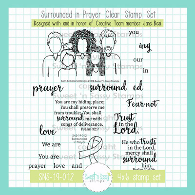 Surrounded in Prayer Clear Stamp Set