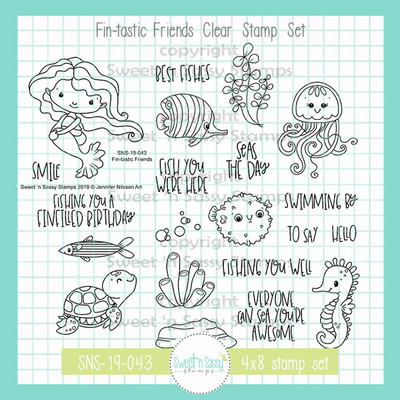 Fin-tastic Friends Clear Stamp Set