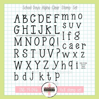 Creative Worship: School Days Alpha Clear Stamp Set