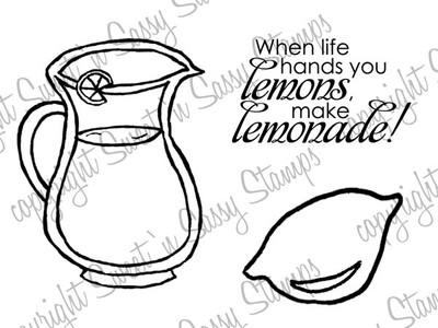 Make Lemonade Digi Stamp