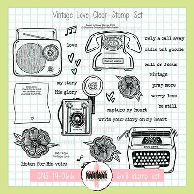Creative Worship: Vintage Love Clear Stamp Set