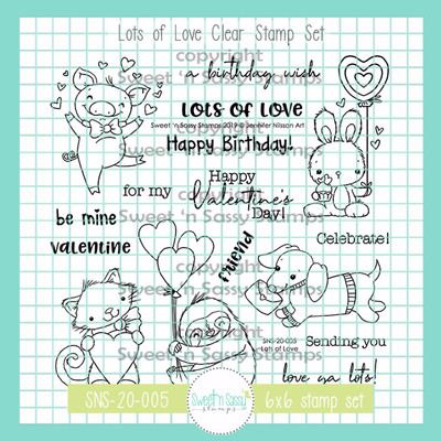 Lots of Love Clear Stamp Set