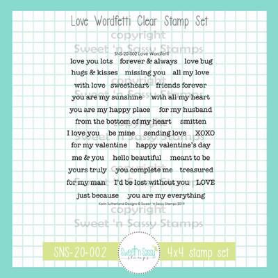 Love Wordfetti Clear Stamp Set