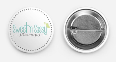 Sweet 'n Sassy Stamps Logo Button Swag