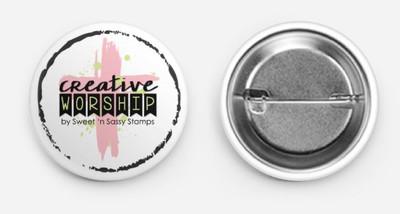 Creative Worship Logo Button Swag