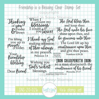 Friendship is a Blessing Clear Stamp Set