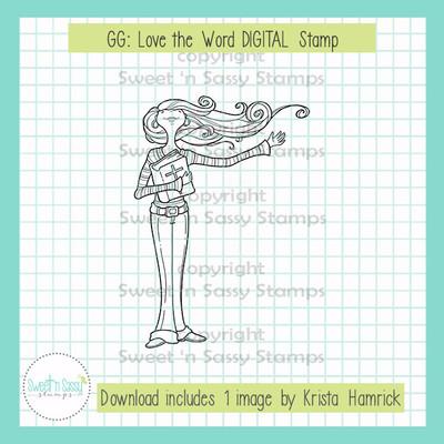 GG: Love the Word DIGITAL Stamp