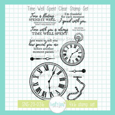 Time Well Spent Clear Stamp Set