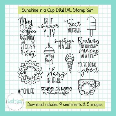 Sunshine in a Cup DIGITAL Stamp Set