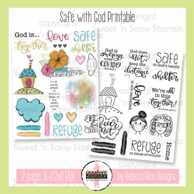 Creative Worship: Safe with God Printable