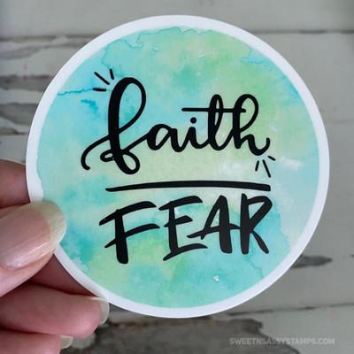 """Faith Over Fear 3"""" Vinyl Sticker Swag"""