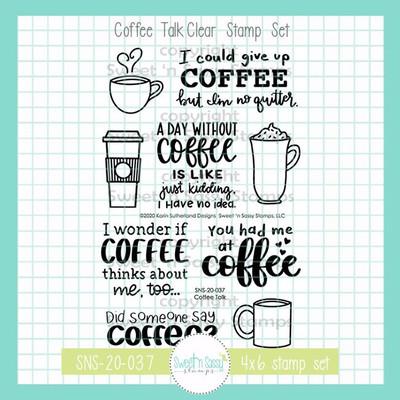 Coffee Talk Clear Stamp Set