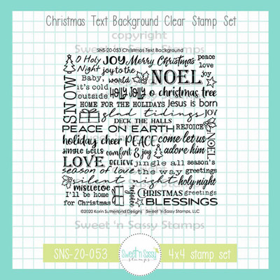Christmas Text Background Clear Stamp