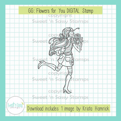 GG: Flowers for You DIGITAL Stamp
