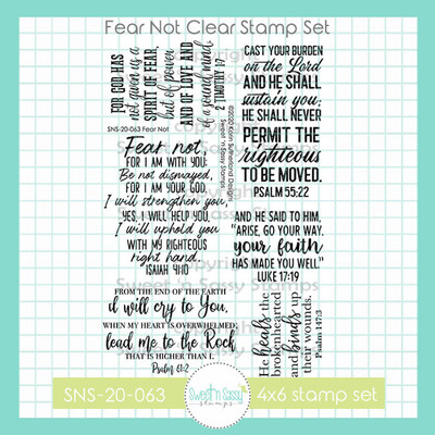 Fear Not Clear Stamp Set
