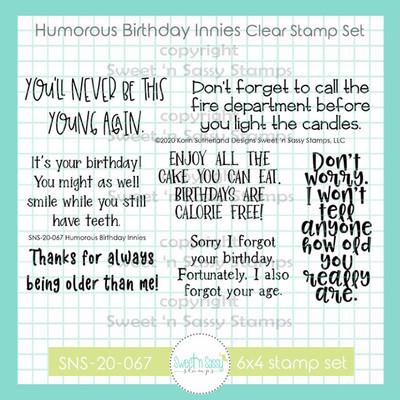 Humorous Birthday Innies Clear Stamp Set