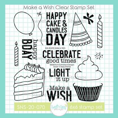 Make a Wish Clear Stamp Set
