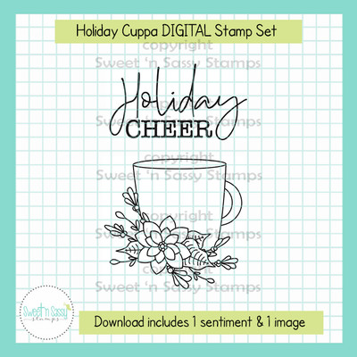 Holiday Cuppa DIGITAL Stamp Set