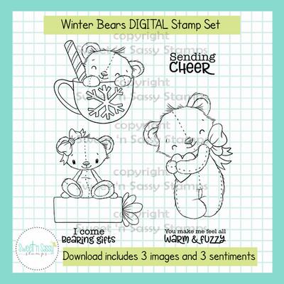 Winter Bears DIGITAL Stamp Set