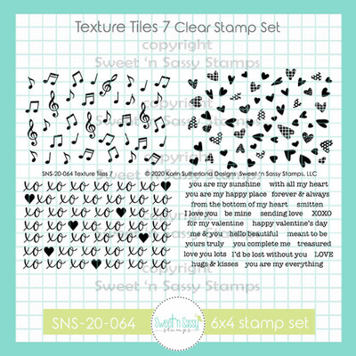 Texture Tiles 7 Clear Stamp Set