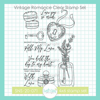 Vintage Romance Clear Stamp Set
