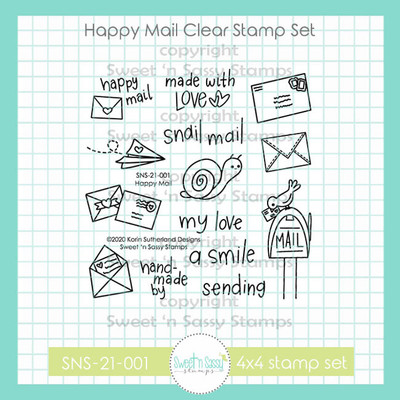 Happy Mail Clear Stamp Set