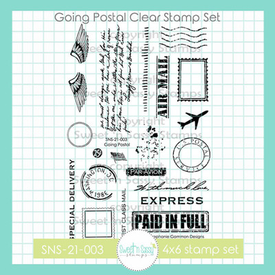Going Postal Clear Stamp Set