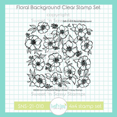 Floral Background Clear Stamp