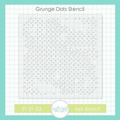 Grunge Dots Stencil