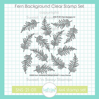 Fern Background Clear Stamp